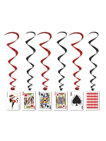 Playing Card Whirl Decoration