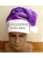 Promotional Plain or Printed Santa Hats - Range of Colours