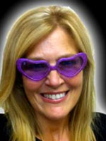 Purple Heart Glitter Glasses