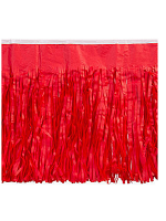 Red Tissue Fringed Drape