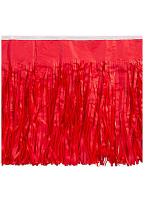 Red Tissue Fringed Drape