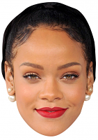 Rihanna Black Hair Face Mask