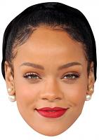 Rihanna Black Hair Face Mask