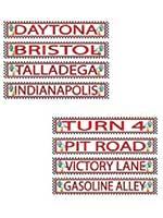 Racing Street Sign Cardboard Cutouts
