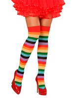 Rainbow Socks Thigh Highs