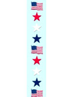 Red, White and Blue Star Stringer