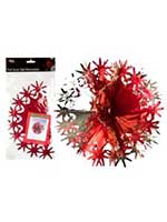 Red and Gold Foil Snow Ball Decoration