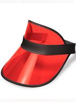 Clear Red Plastic Dealer's Visor