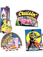 Rock and Roll Cutout Decorations