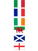 Rugby 6 Nations Polyester Bunting