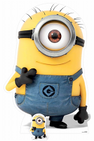 Carl – Minion Smiling Cardboard Cutout