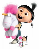Agnes and Fluffy Unicorn - Cardboard Cutout