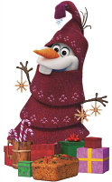 Christmas Olaf Frozen Adventure - Cardboard Cutout
