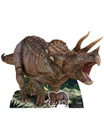 Triceratops Natural History Museum with Mini Tabletop Dinosaur Cutout