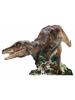Velociraptor Natural History Museum with Mini Tabletop Dinosaur Cutout