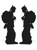 Soldier Silhouette Double Pack Black World War - Cardboard Cutout