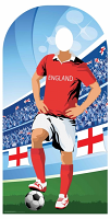 England (World Cup Football Stand-IN) - Cardboard Cutout