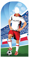 Poland (World Cup Football Stand-IN) - Cardboard Cutout