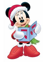 Disney Christmas Minnie Mouse Choir (Christmas Carol) Star-Mini
