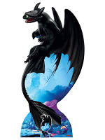 Toothless Night Fury Soars How To Train Your Dragon Large Cardboard Cutout
