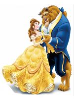 Disney Princess Belle Beauty and The Beast Mini Cardboard Cutouts