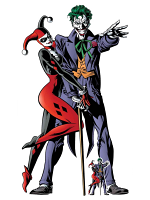 Harley Quinn and The Joker Classic Comic Couple Double Cutout