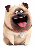 Mel Pug Dog Secret Life of Pets Cardboard Cutout