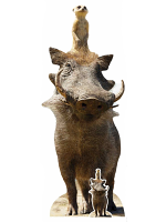 Timon and Pumbaa Lion King Live Action Cardboard Standee