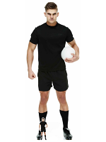 Rugby Player In Black Cardboard Cutout