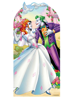 Joker Harley Quinn Wedding Cardboard Stand-In Adult Size