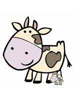 Cute Cow Cardboard Cut Out