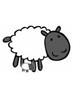 Cute Sheep Farmyard Animal Cardboard Cut Out