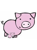 Cute Pig Farmyard Animal Cardboard Cut Out