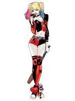 Harley Quinn Baseball Bat Cardboard Cutout