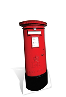 Post Box - Cardboard Cutout