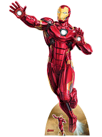 Tony Stark Avengers Marvel Legends Iron Man Take Off Lifesize Cardboard Cutout
