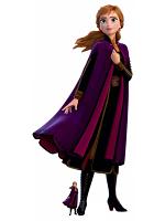 Anna Purple Velvet Coat Arendelle Cardboard Cutout