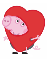 George Pig Heart Lifesize Cardboard Cutouts/ Standee/ Stand Up