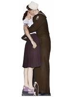 Victory Day Couple Colour Cardboard Cutout