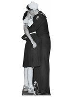 Victory Day Couple (Black and White) Cardboard Cutout