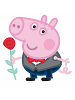 George Pig Rose Lifesize Cardboard Cutouts/ Standee/ Stand Up