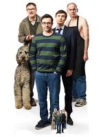Friday Night Dinner Group Jonny, Adam, Jim, Dad with Free Mini Cutout