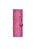 Fantasy/ Magical/ Fairy Single Doors Large Pink