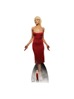 Number Six Red Dress Tricia Helfer Battlestar Galactica Lifesize Cardboard Standee with Free Mini Standee