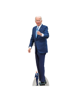 Joe Biden President Pointing Cardboard Cutout With Free Mini Cutout
