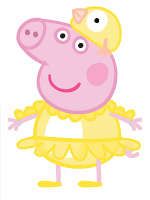 Peppa Pig Chicken Easter Lifesize Cardboard Cutout