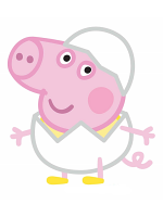 George Pig Egg Easter Lifesize Cardboard Cutout