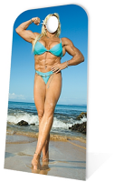 Muscle Woman Stand- In - Cardboard Cutout