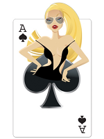 Ace of Spades 'Babe' Playing Card