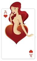 Ace of Hearts 'Babe' Playing Card - Cardboard Cutout